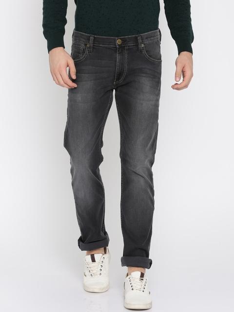 Lee Men Black Slim Fit Low-Rise Clean Look Stretchable Jeans
