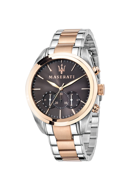 Maserati Men Black & Dual-Toned Chronograph Watch R8873612003