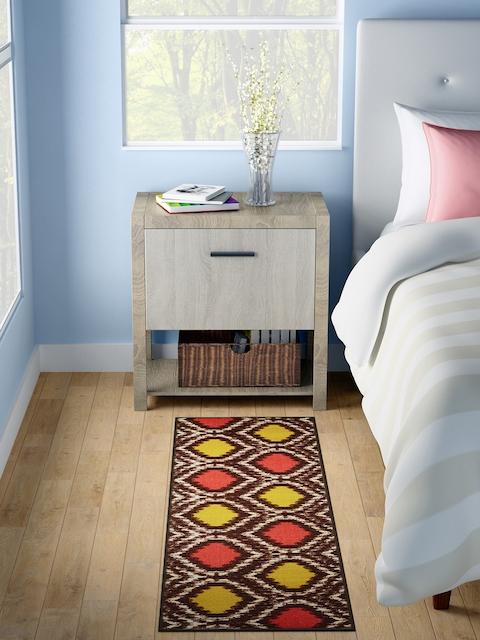 WELHOME Multicoloured Printed Rectangle Carpet