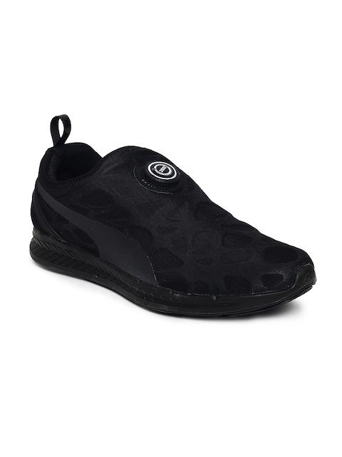 Puma Men Black Disc Sleeve Ignite Foam Slip-Ons