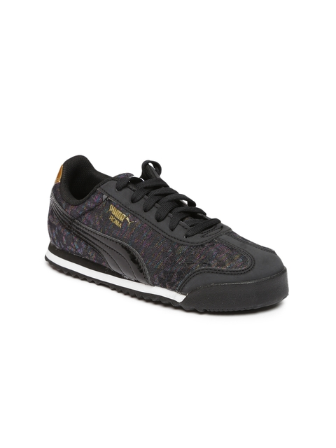 Puma Girls Black Roma Basic Gleam PS Sneakers