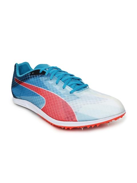 Puma Men Blue & White evoSPEED Distance v6 Running Shoes