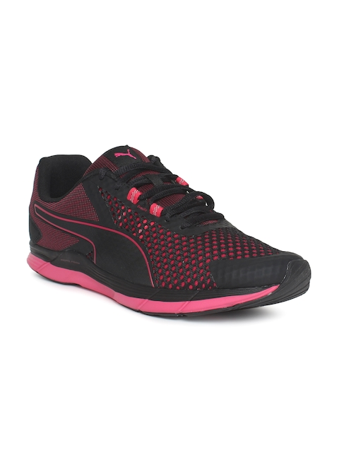 Puma Women Black & Pink Propel 2 Running Shoes