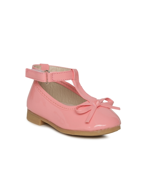 Kittens Girls Pink Solid Synthetic Ballerinas