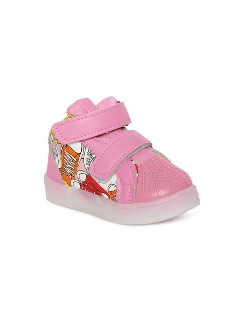 Kittens Girls Pink Printed Sneakers