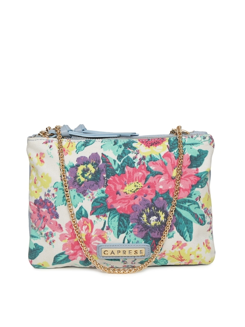 Caprese Multicoloured Printed Sling Bag