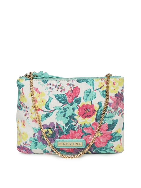 Caprese Multicoloured Printed Sling Bag