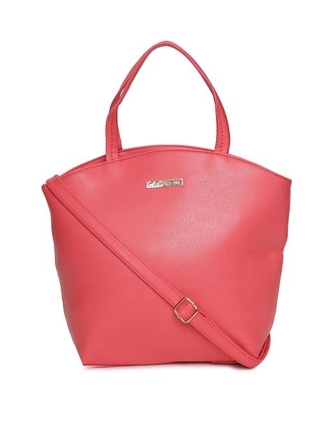 Caprese Coral Pink Solid Handheld Bag