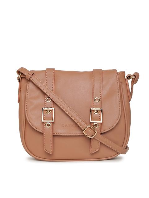Caprese Brown Solid Sling Bag