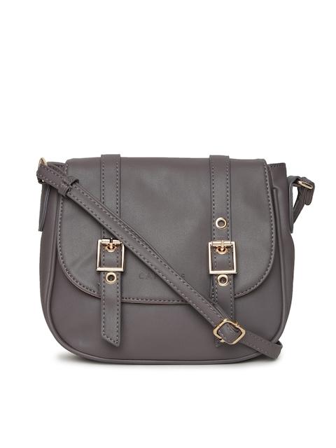 Caprese Grey Solid Sling Bag