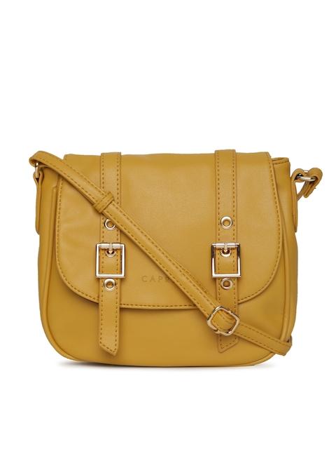 Caprese Mustard Yellow Solid Sling Bag