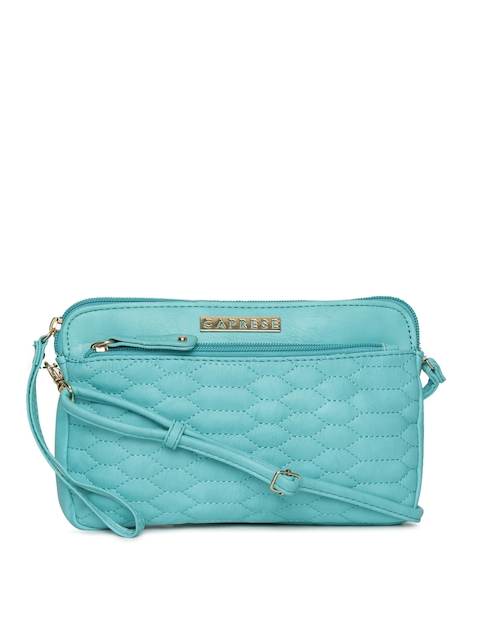 Caprese Blue Quilted Purse