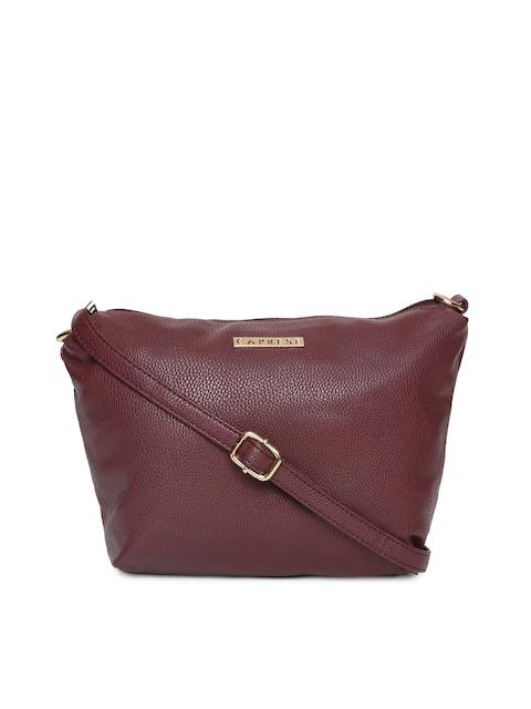 Caprese Burgundy Solid Sling Bag