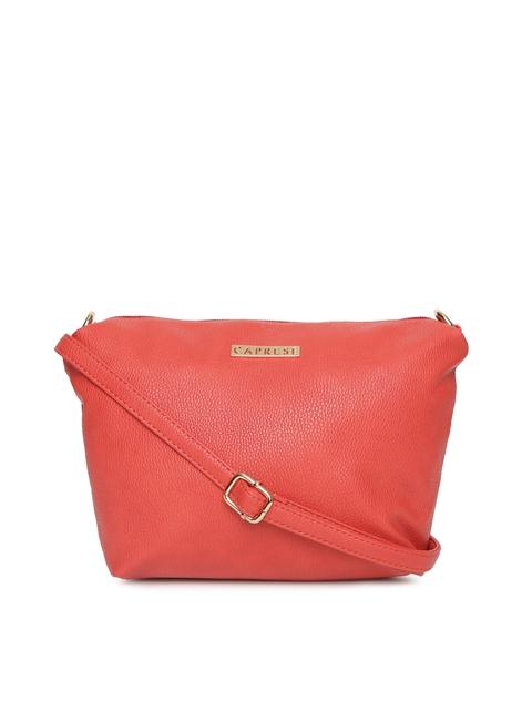 Caprese Coral Solid Sling Bag