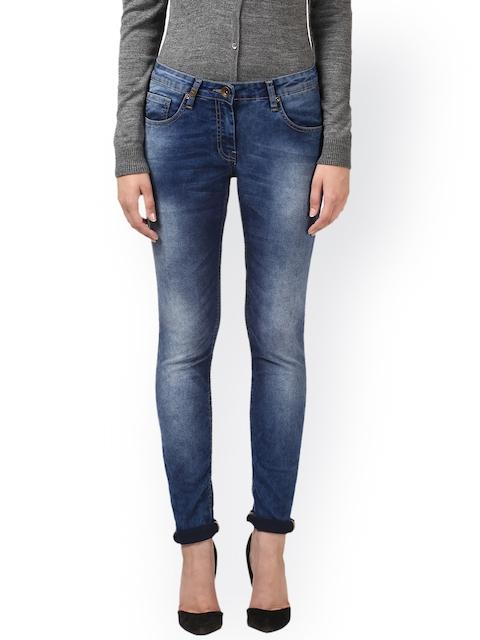 Park Avenue Women Blue Super Skinny Fit Mid-Rise Clean Look Jeans