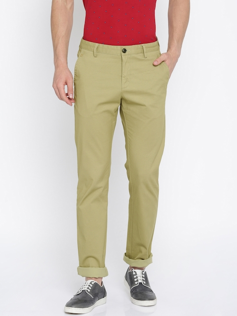 Allen Solly Men Beige Custom Regular Fit Printed Chinos