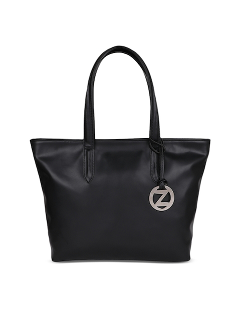OsaiZ Black Solid Tote Bag