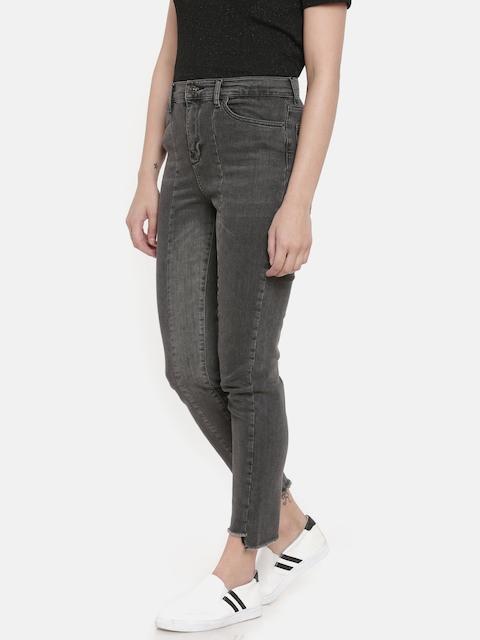 Vero Moda Women Black Slim Fit High-Rise Clean Look Stretchable Jeans
