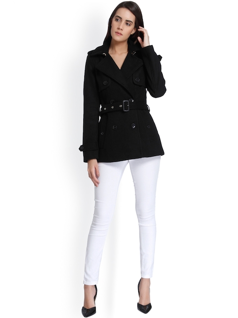Vero Moda Women Black Trench Coat