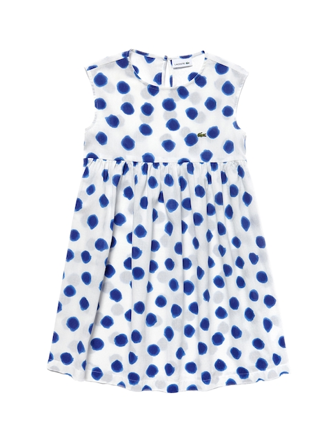 Lacoste Girls White Printed A-Line Dress