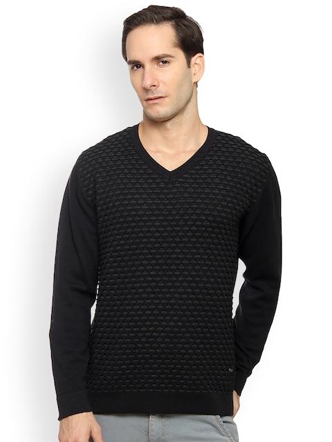 Duke Men Black Solid Pullover