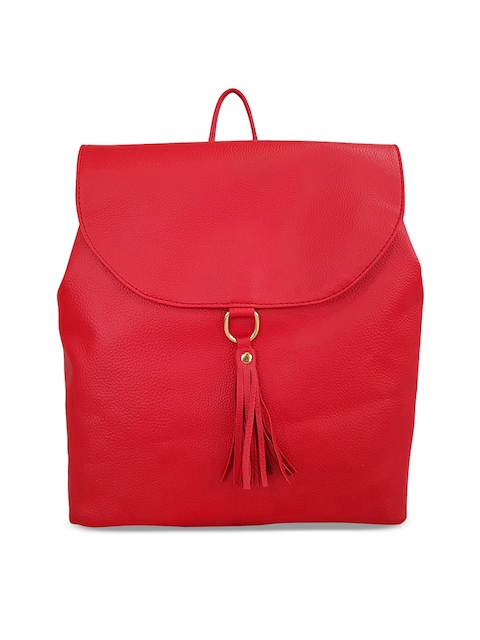Toteteca Women Red Solid Backpack