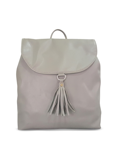 Toteteca Women Grey Solid Backpack