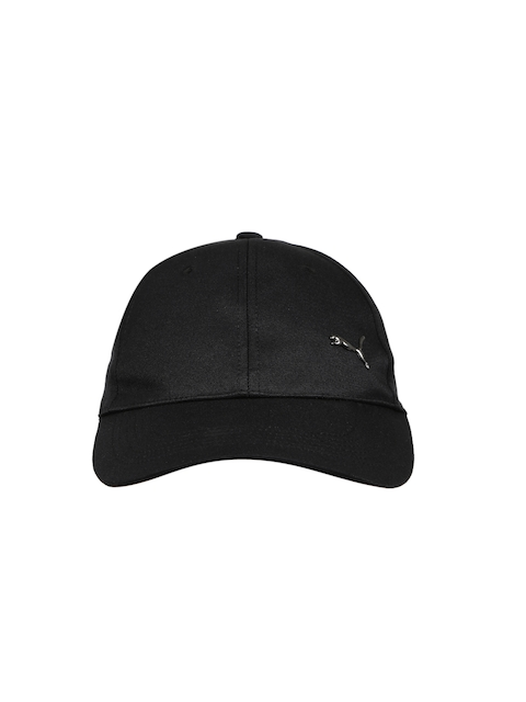 Puma Unisex Black Solid Metal Cat Baseball Cap