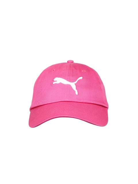 Puma Unisex Pink Solid ESS Big Cat Baseball Cap  available at myntra for Rs.389