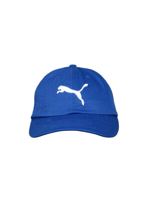 Puma Unisex Blue Solid Baseball Cap  available at myntra for Rs.359