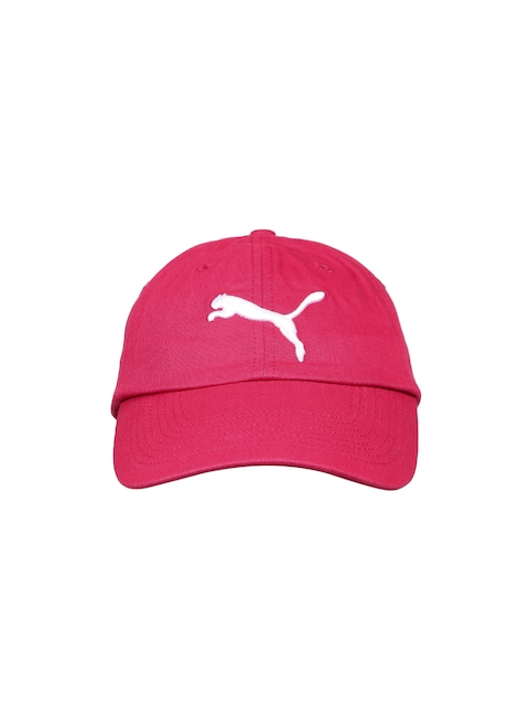 Puma Unisex Pink Solid Baseball Cap  available at myntra for Rs.359