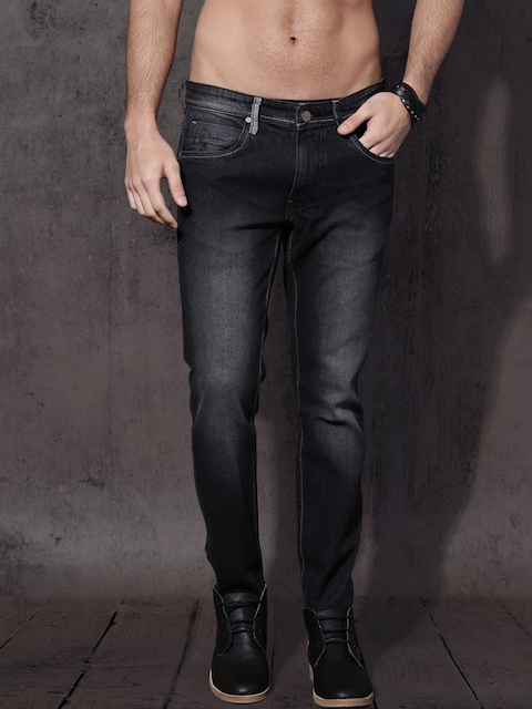 Roadster Men Black Skinny Fit Mid-Rise Clean Look Stretchable Jeans