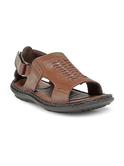 Teakwood Leathers Men Brown Comfort Sandals