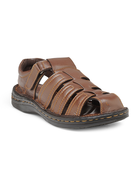 Teakwood Leathers Men Brown Shoe-Style Sandals