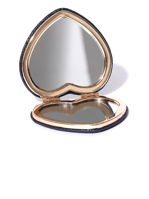 Accessorize Navy Shimmer Heart-Shaped Mirror