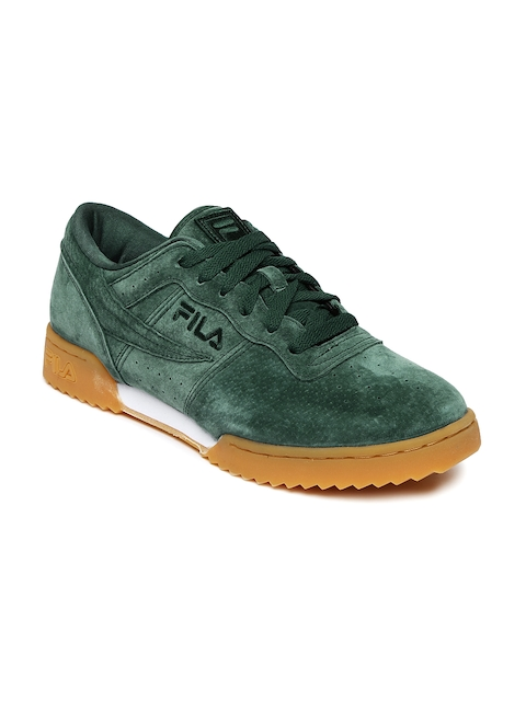 FILA Men Green Suede Original Tennis Premium Shoes