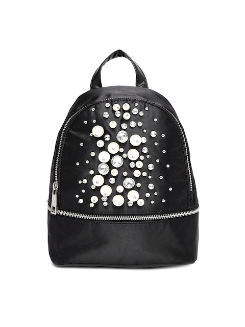 ALDO Women Black Embellished Backpack