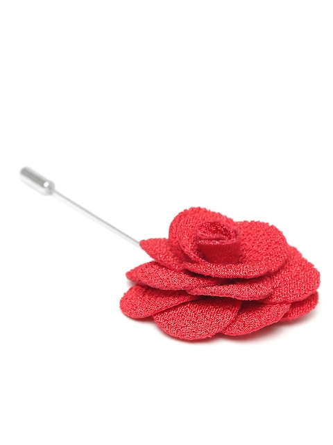 The Bro Code Men Red Flower-Shaped Lapel Pin