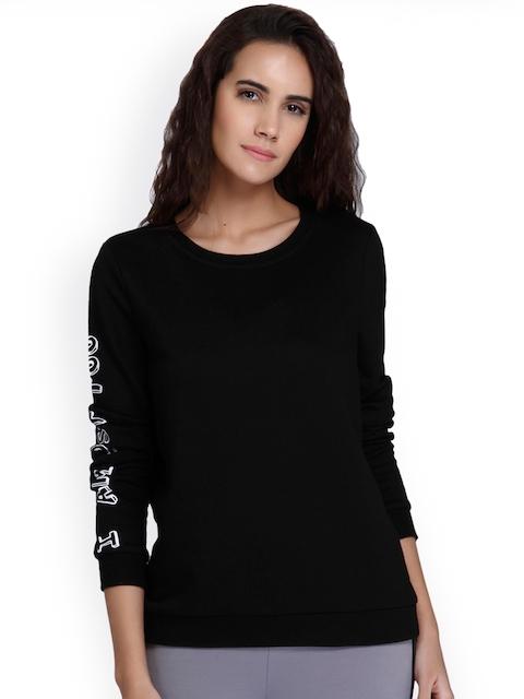 Vero Moda Women Black Solid Sweatshirt