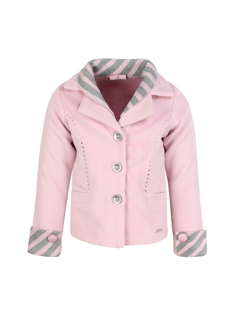 CUTECUMBER Girls Pink Coat