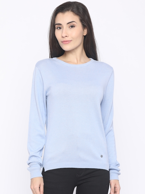 Pepe Jeans Women Blue Solid Pullover