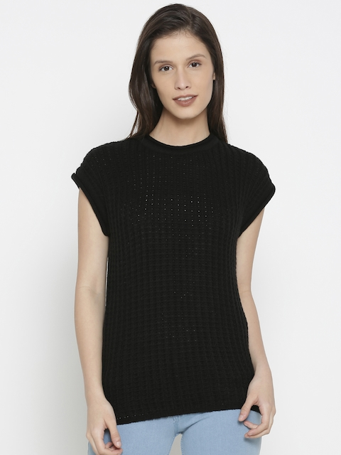 Pepe Jeans Women Black Solid Pullover Sweater
