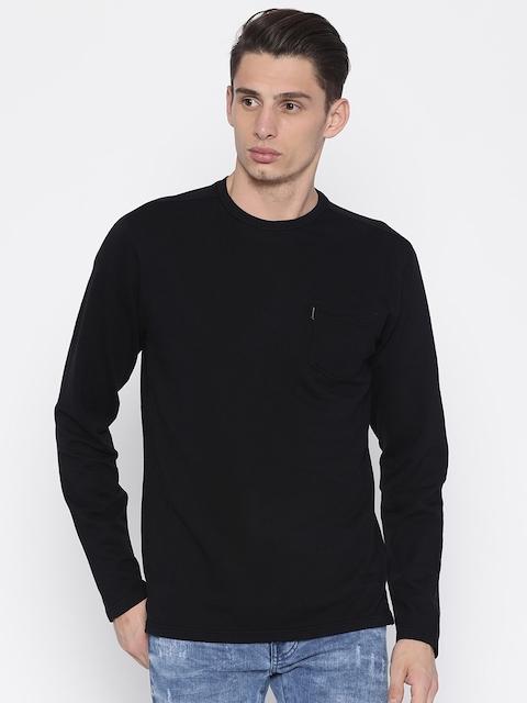 883 Police Men Black Solid Sweatshirt