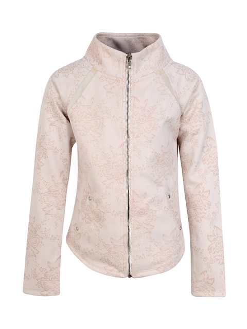 CUTECUMBER Girls Beige Printed Tailored Jacket
