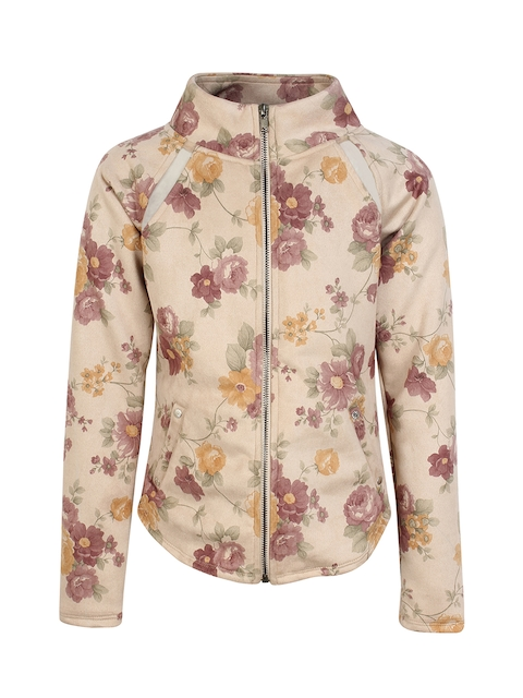 CUTECUMBER Girls Brown Printed Tailored Jacket