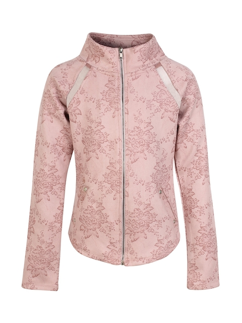 CUTECUMBER Girls Pink Printed Tailored Jacket