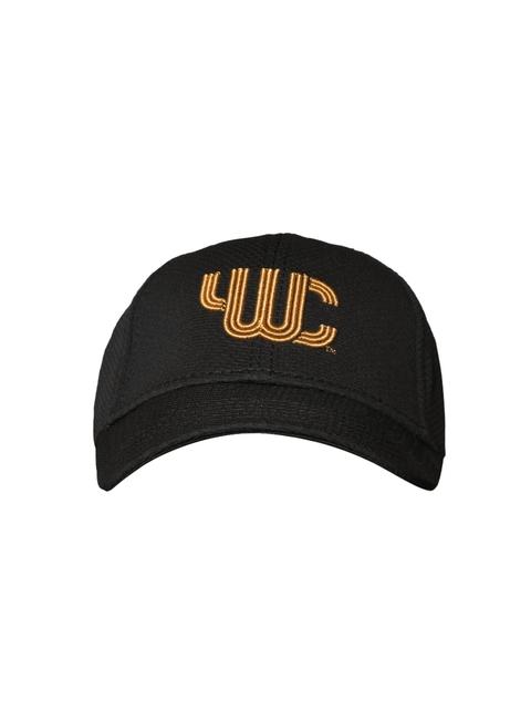 YWC Unisex Black Self Design Baseball Cap