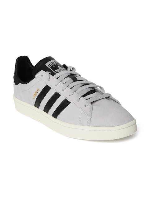 Adidas Originals Men Grey Campus Sneakers  available at myntra for Rs.7599