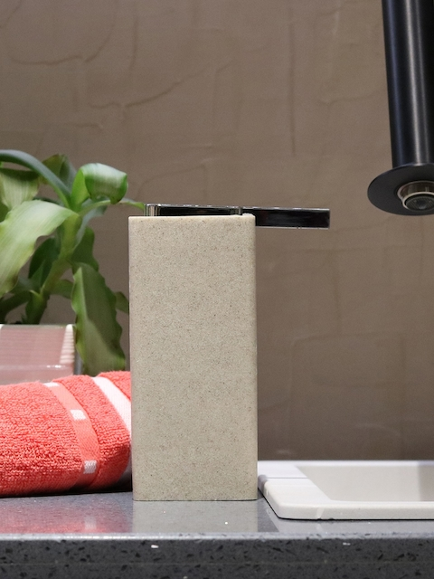 Shresmo Off-White Solid Liquid Soap Dispenser