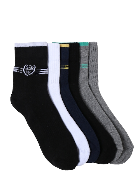 Wrangler Men Pack of 6 Assorted Ankle-Length Socks